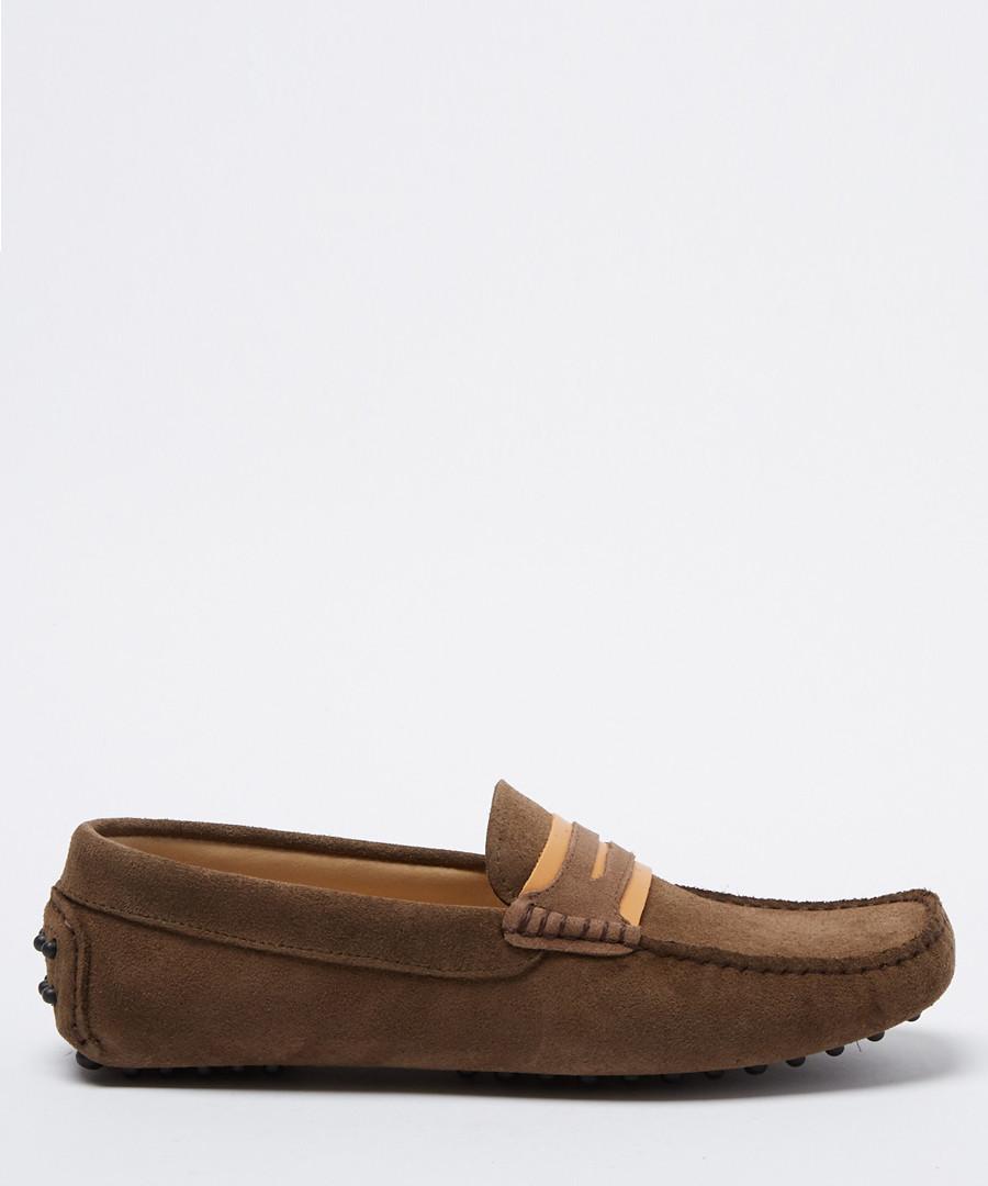 Carpio taupe suede loafers Sale - moka saint