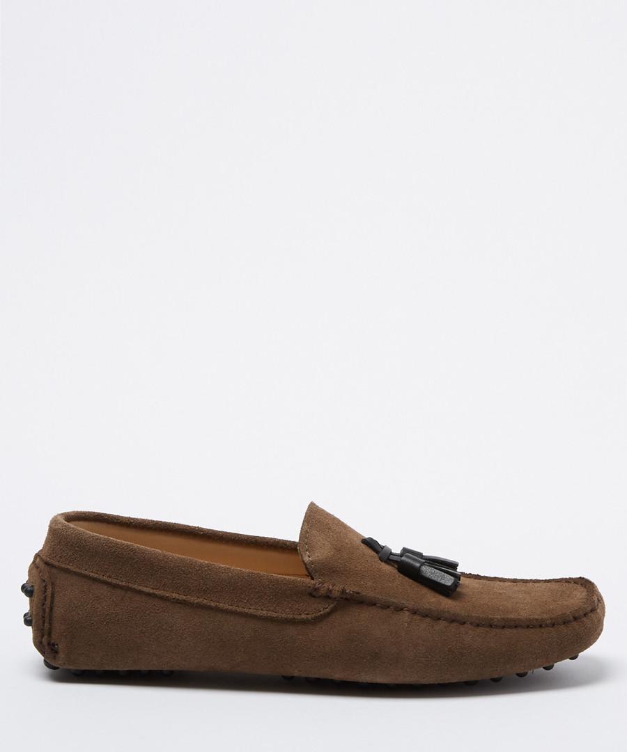 Velazques taupe suede loafers Sale - Moka Saint
