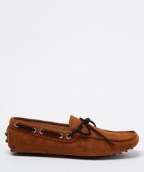Salazar setter & black suede loafers