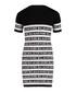 White & black logo stripe dress Sale - balmain kids Sale