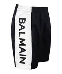 White & black logo shorts