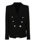 Black cotton blend button blazer Sale - balmain kids Sale