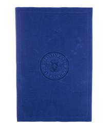 Blue pure cotton bathroom towel