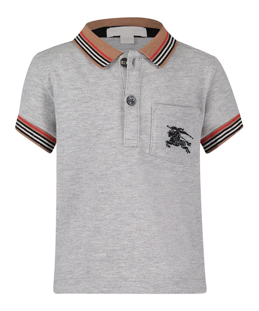 Grey pure cotton logo polo shirt Sale - burberry
