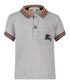 Grey pure cotton logo polo shirt Sale - burberry Sale