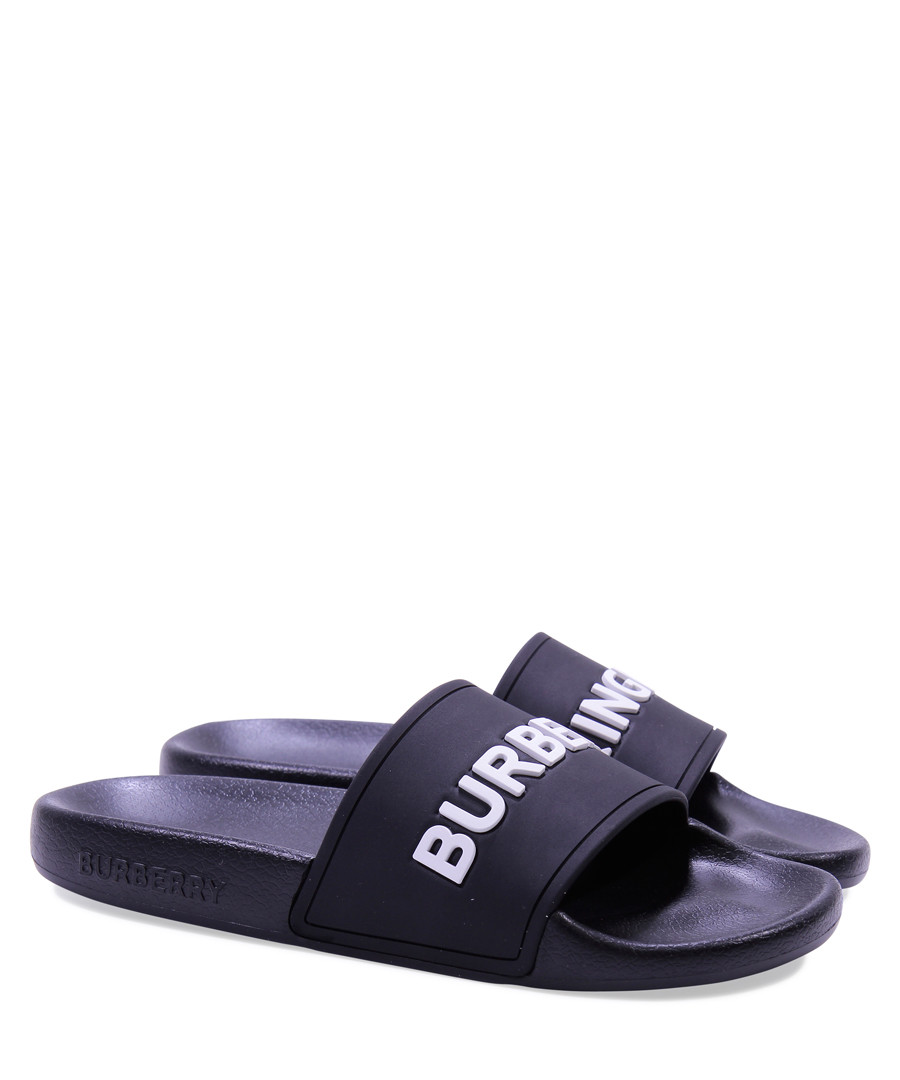 Black casual logo slip-ons Sale - burberry