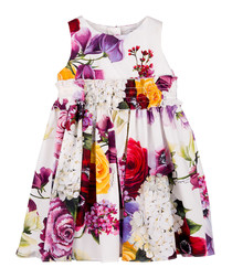 Multi-colour pure cotton floral dress