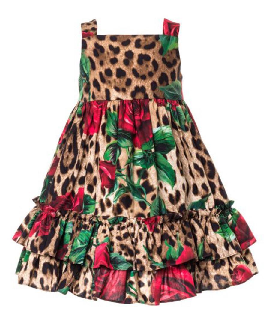 Multi-colour pure cotton leopard dress Sale - dolce & gabbana