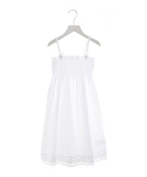 White pure cotton dress