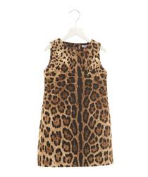 Multi-colour pure cotton leopard dress