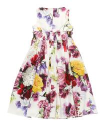 Multi-colour pure cotton floral dress