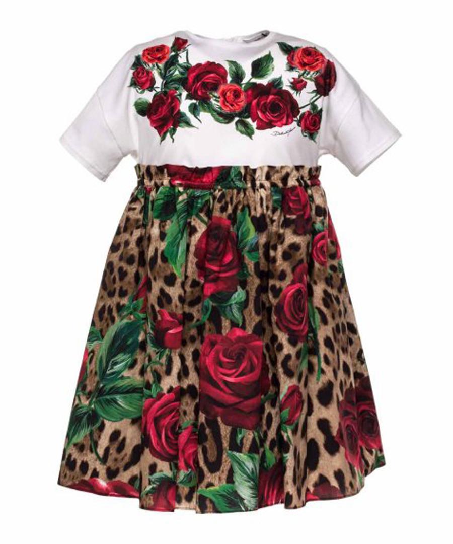Multi-colour rose & leopard print dress Sale - dolce & gabbana