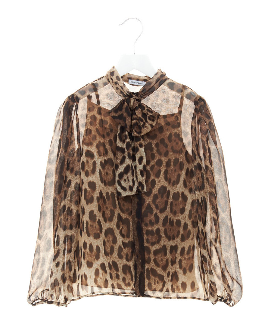 Multi-colour pure silk leopard blouse Sale - dolce & gabbana