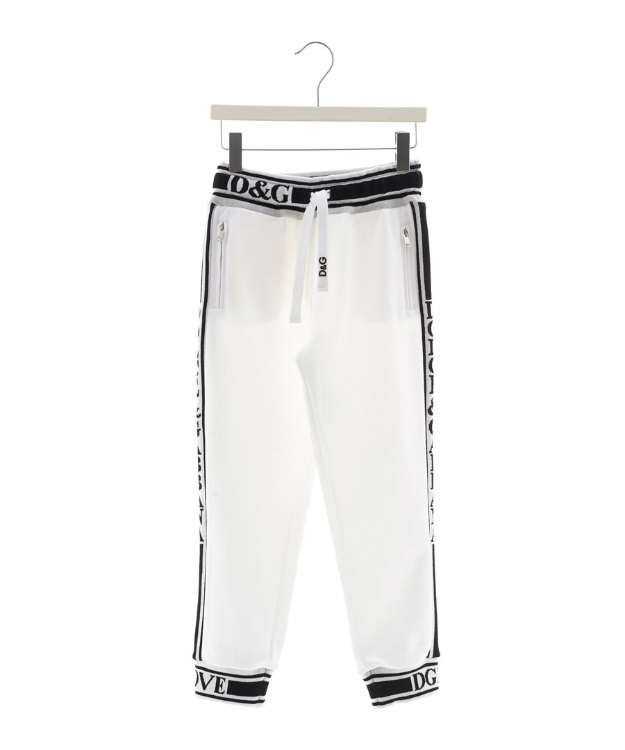 White pure cotton tracksuit bottom Sale - dolce & gabbana