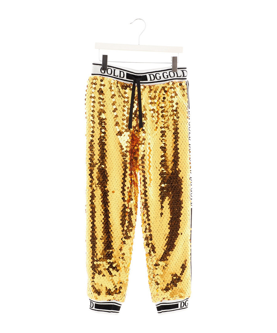 Gold sequin tracksuit bottoms Sale - dolce & gabbana