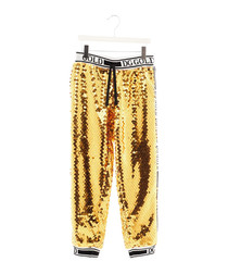 Gold sequin tracksuit bottoms