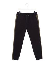 Black pure cotton tracksuit bottoms