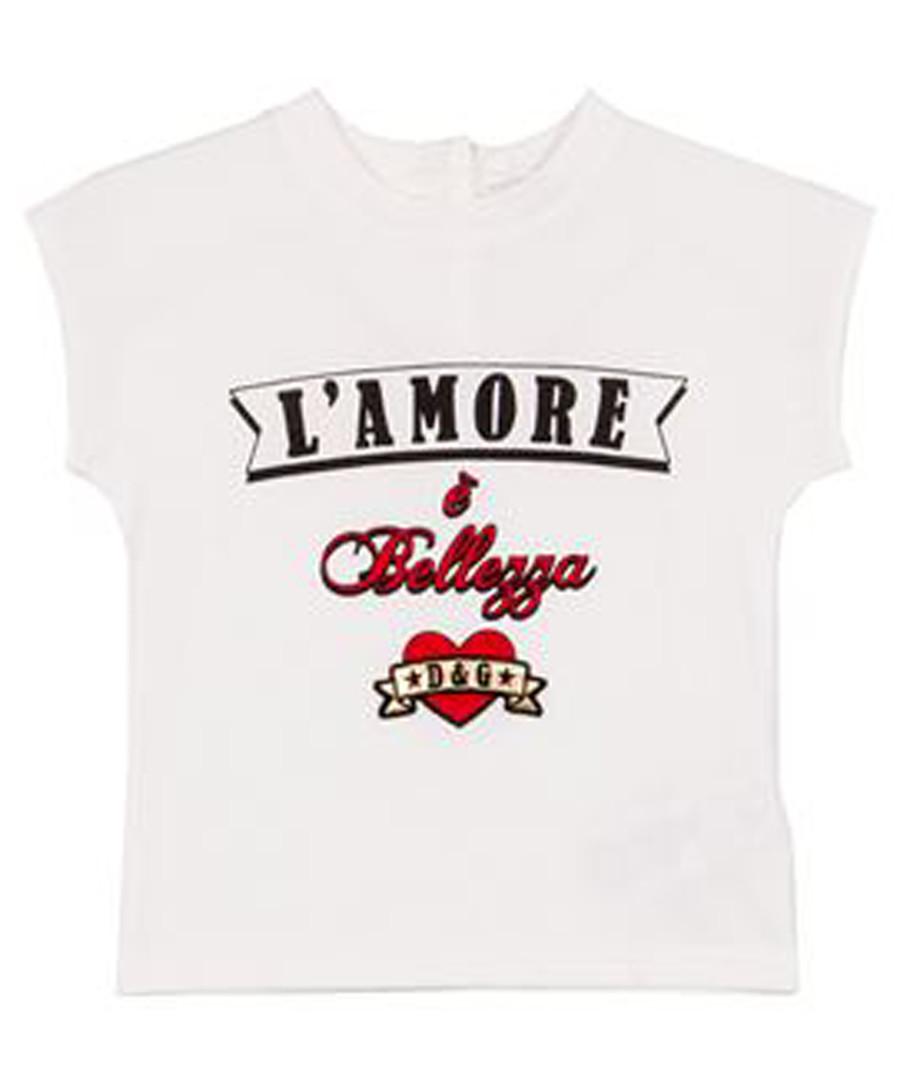 White pure cotton print T-shirt Sale - dolce & gabbana
