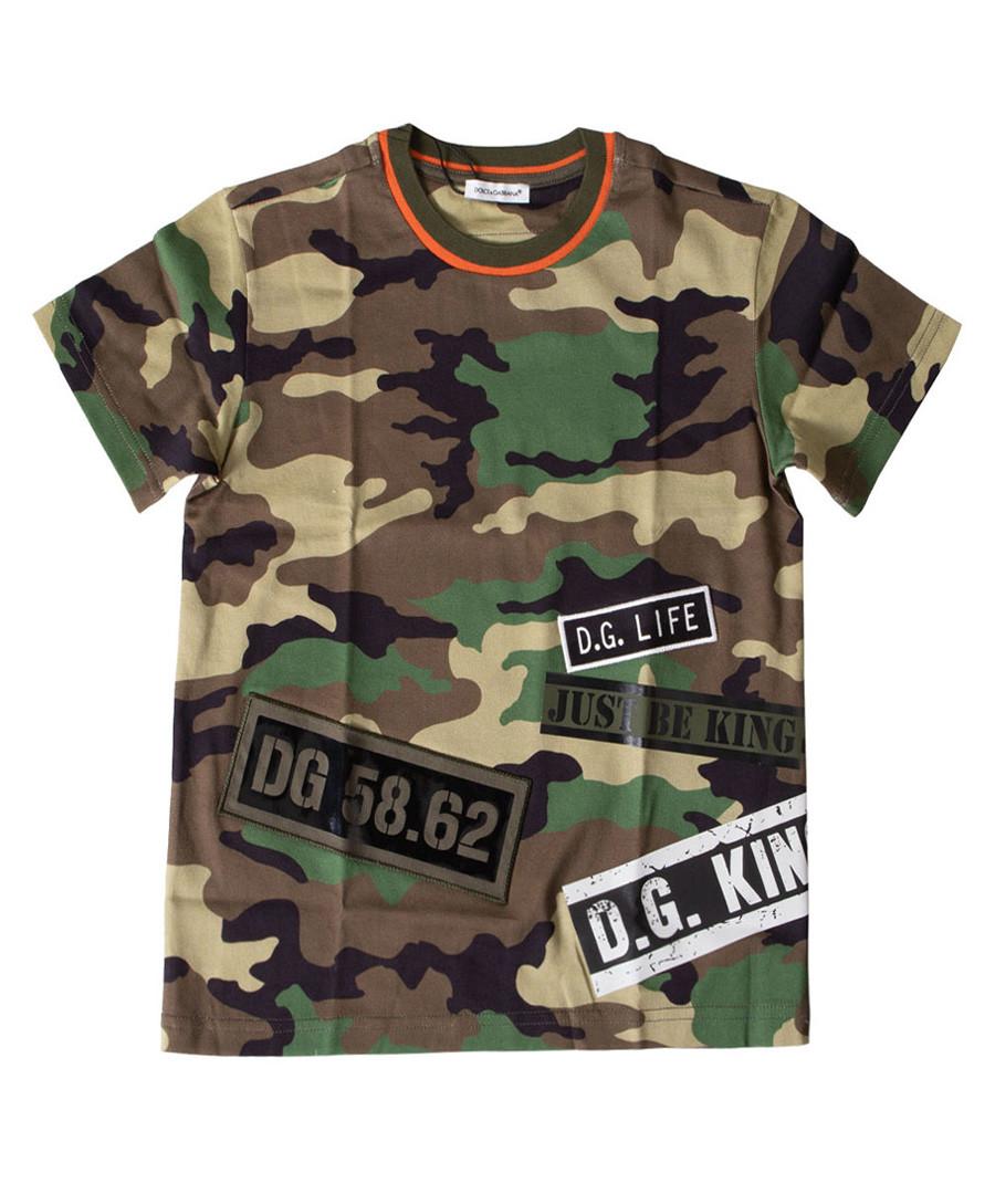 Multi-colour pure cotton camo T-shirt Sale - dolce & gabbana