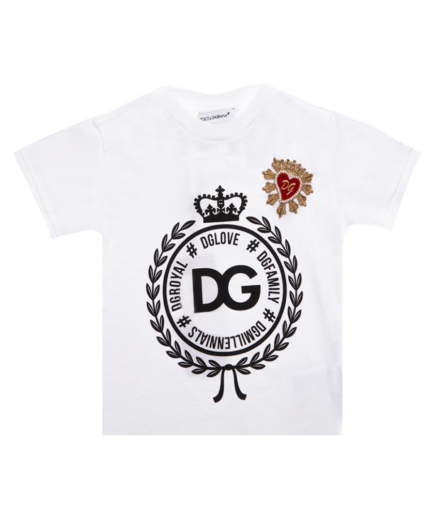 White pure cotton logo T-shirt Sale - dolce & gabbana