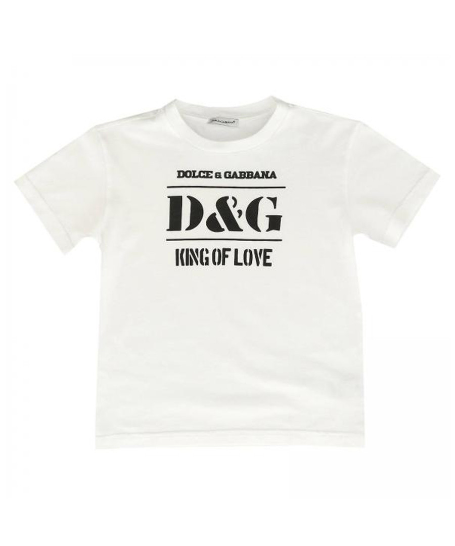 White pure cotton logo T-shirt Sale - dolce & gabbana