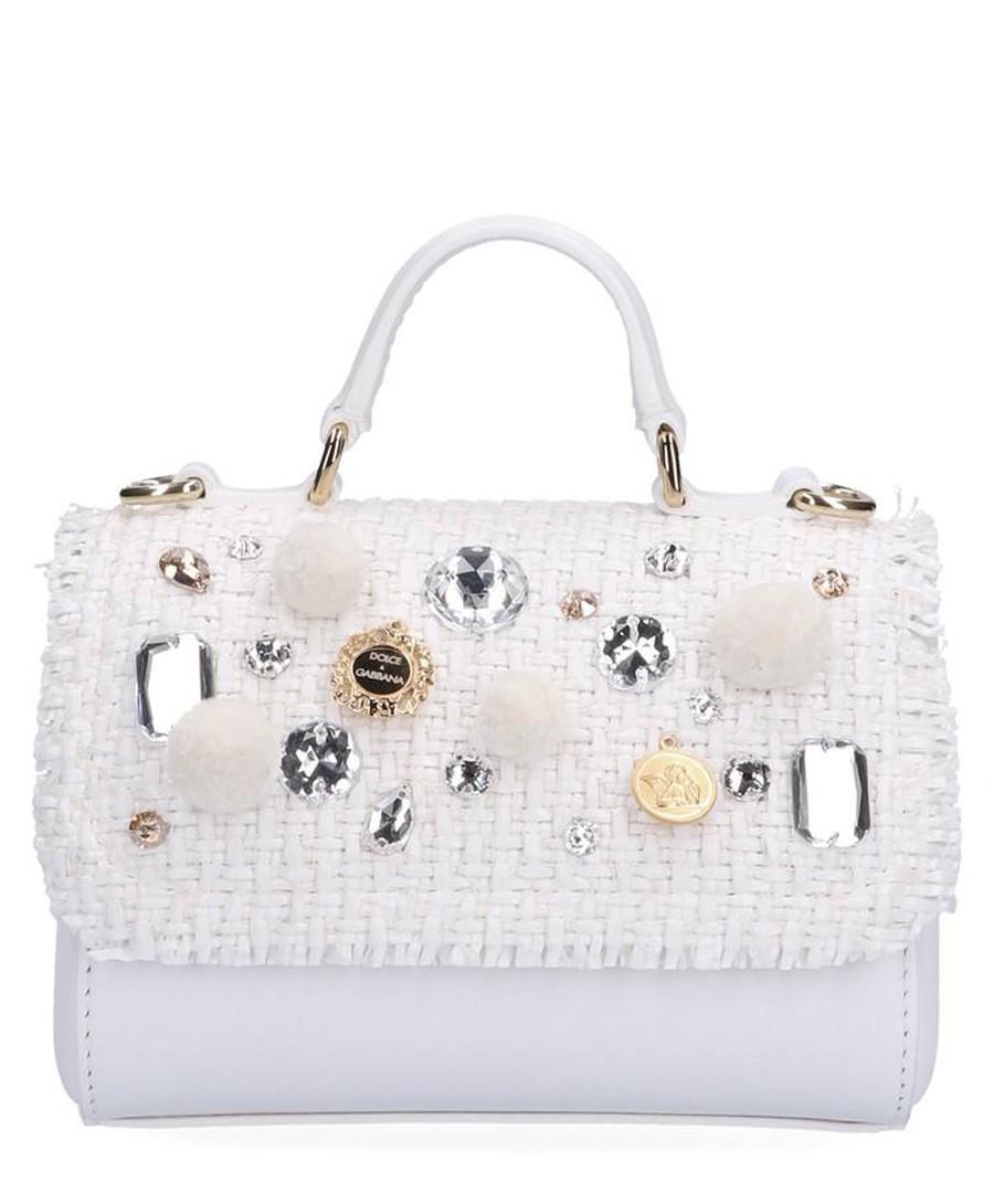 White leather embellished shoulder bag Sale - dolce & gabbana