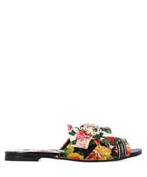 Multi-colour floral slip-ons