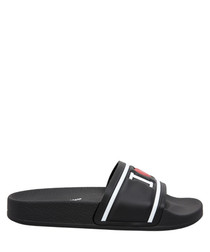 Black love logo slip-ons
