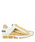 White & gold-tone logo sneakers Sale - dolce & gabbana Sale