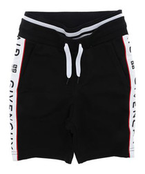 Black pure cotton logo shorts