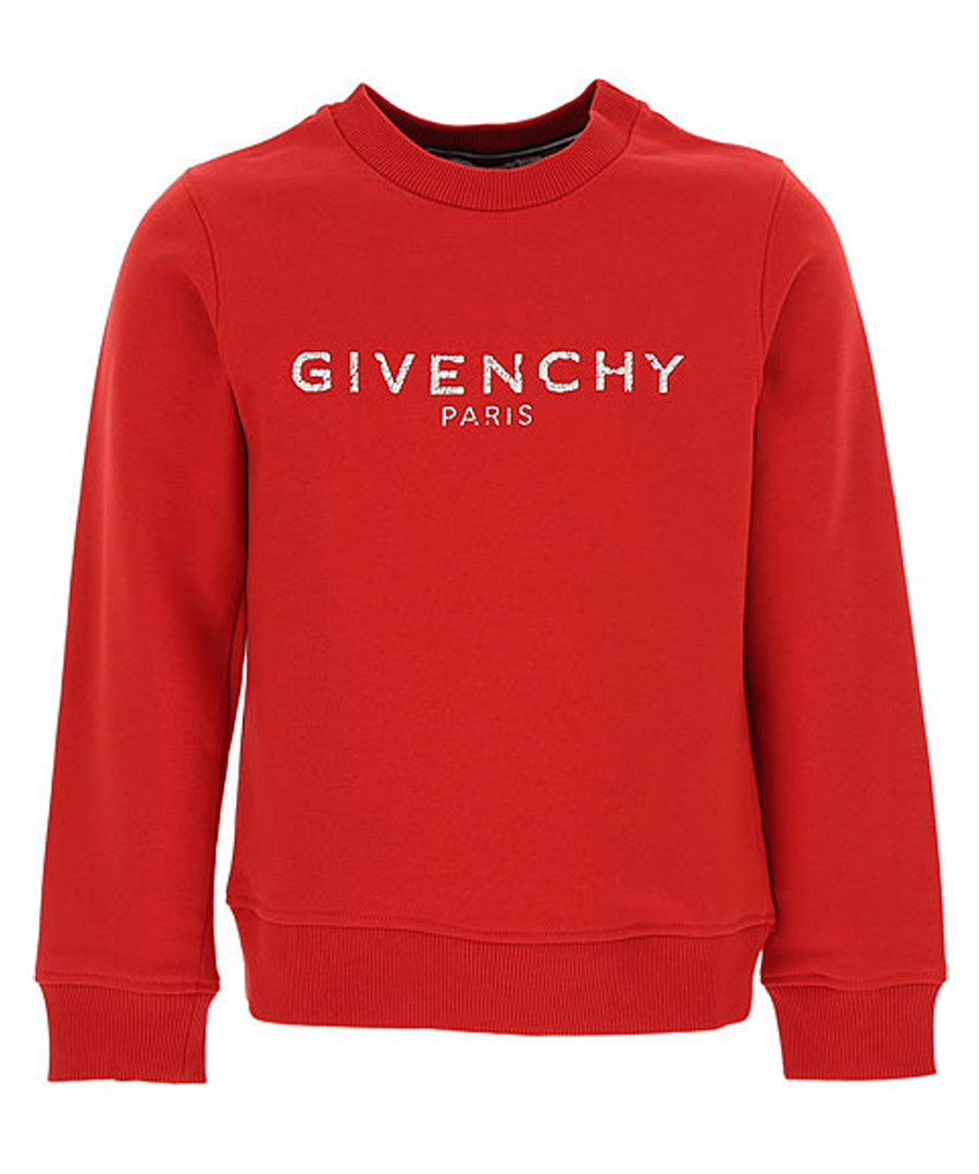 Red pure cotton logo sweatshirt Sale - givenchy