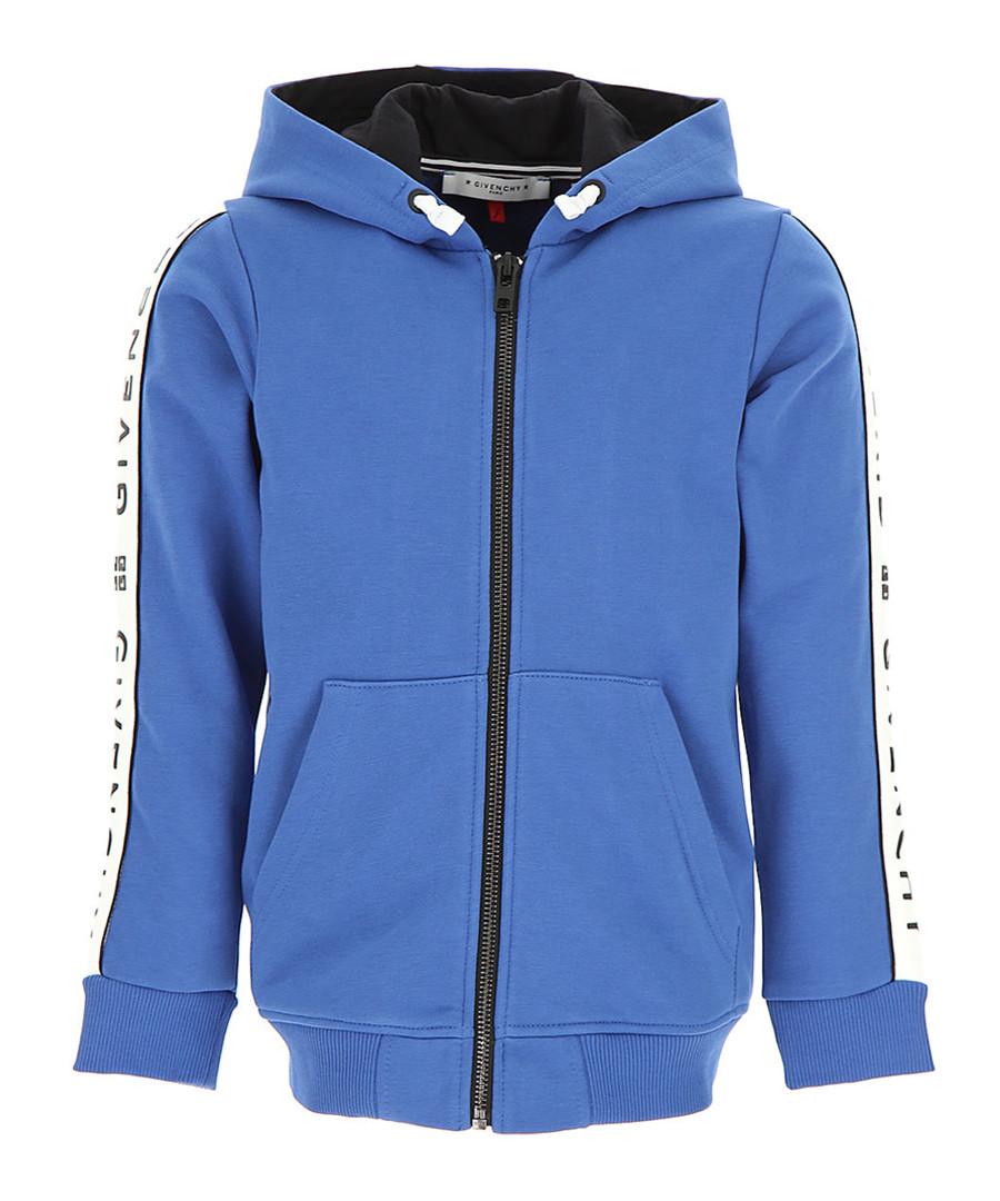 Blue pure cotton logo hoodie Sale - givenchy