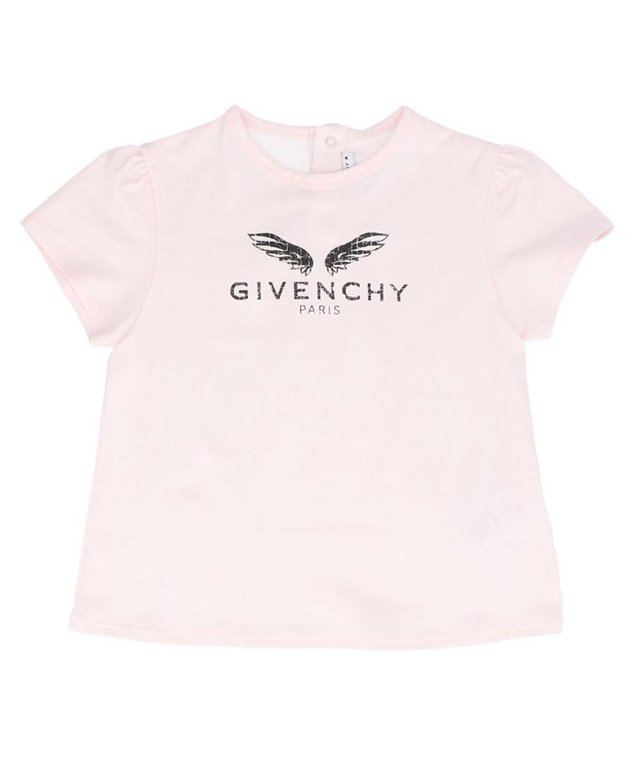 Pink pure cotton logo T-shirt Sale - givenchy