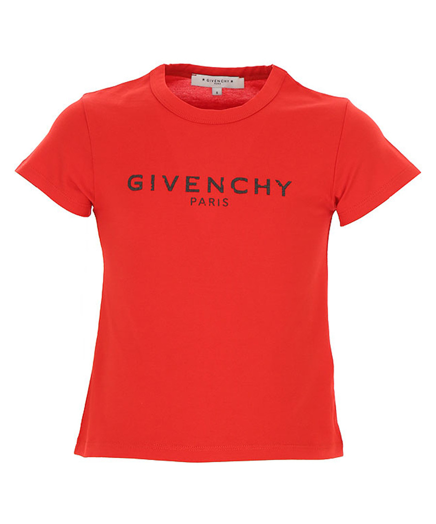 Red pure cotton logo T-shirt Sale - givenchy