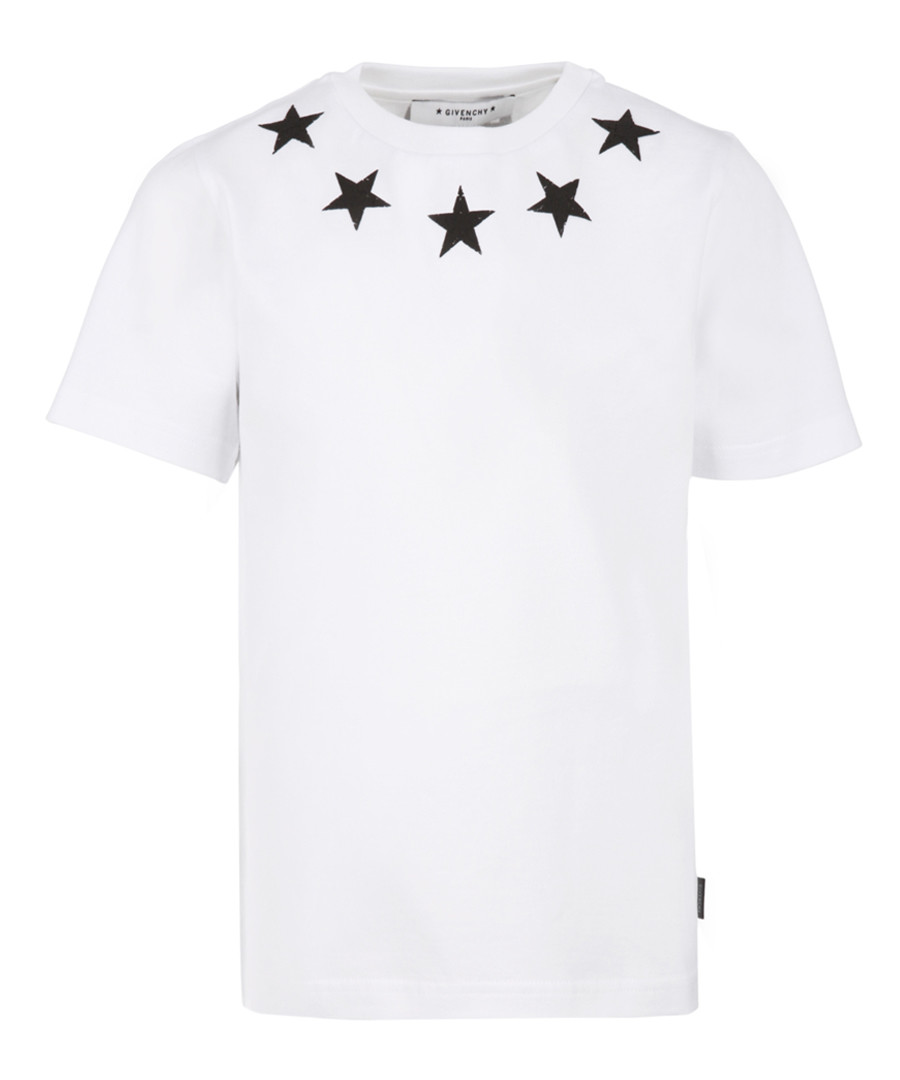 White pure cotton star T-shirt Sale - givenchy