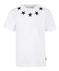 White pure cotton star T-shirt