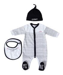 3pc Black pure cotton onesie set