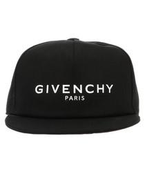 Black pure cotton logo hat