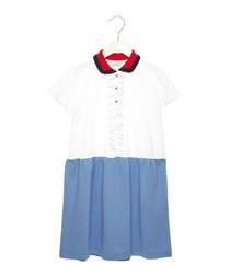 Multi-colour cotton blend dress