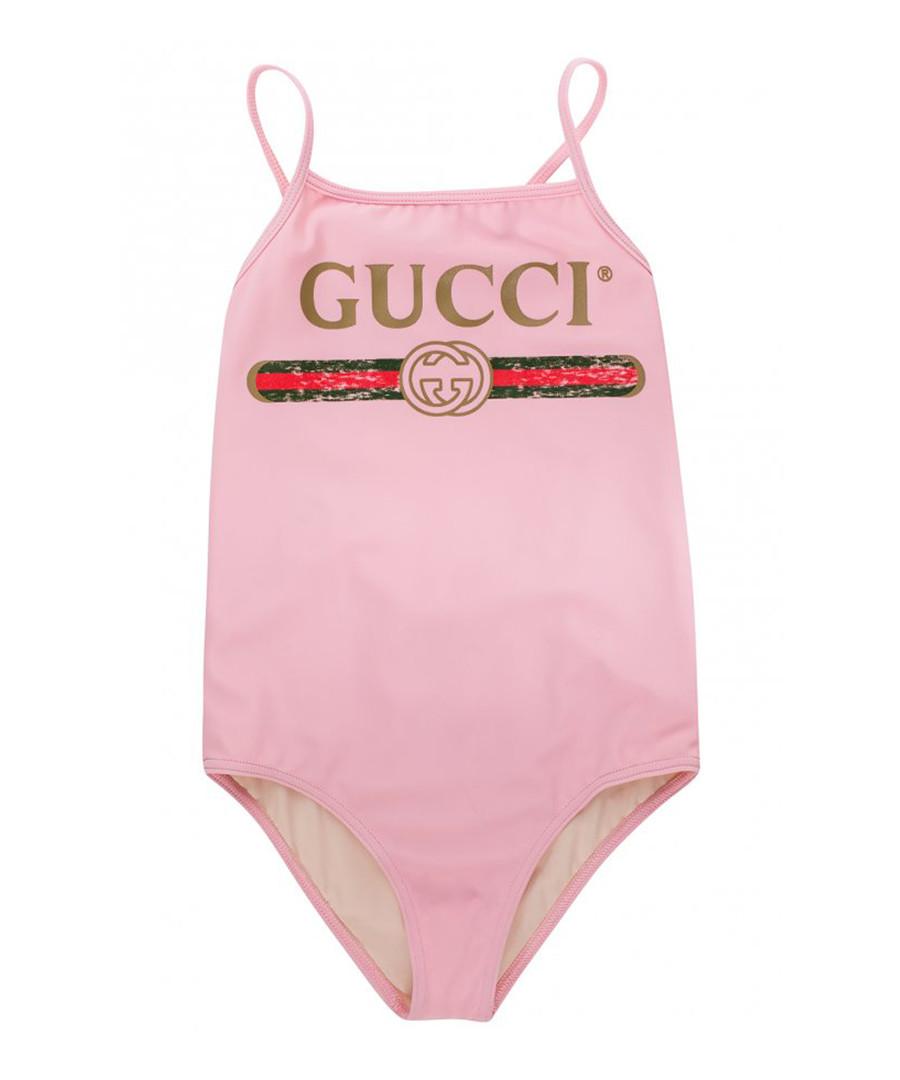 Pink logo swimsuit Sale - gucci