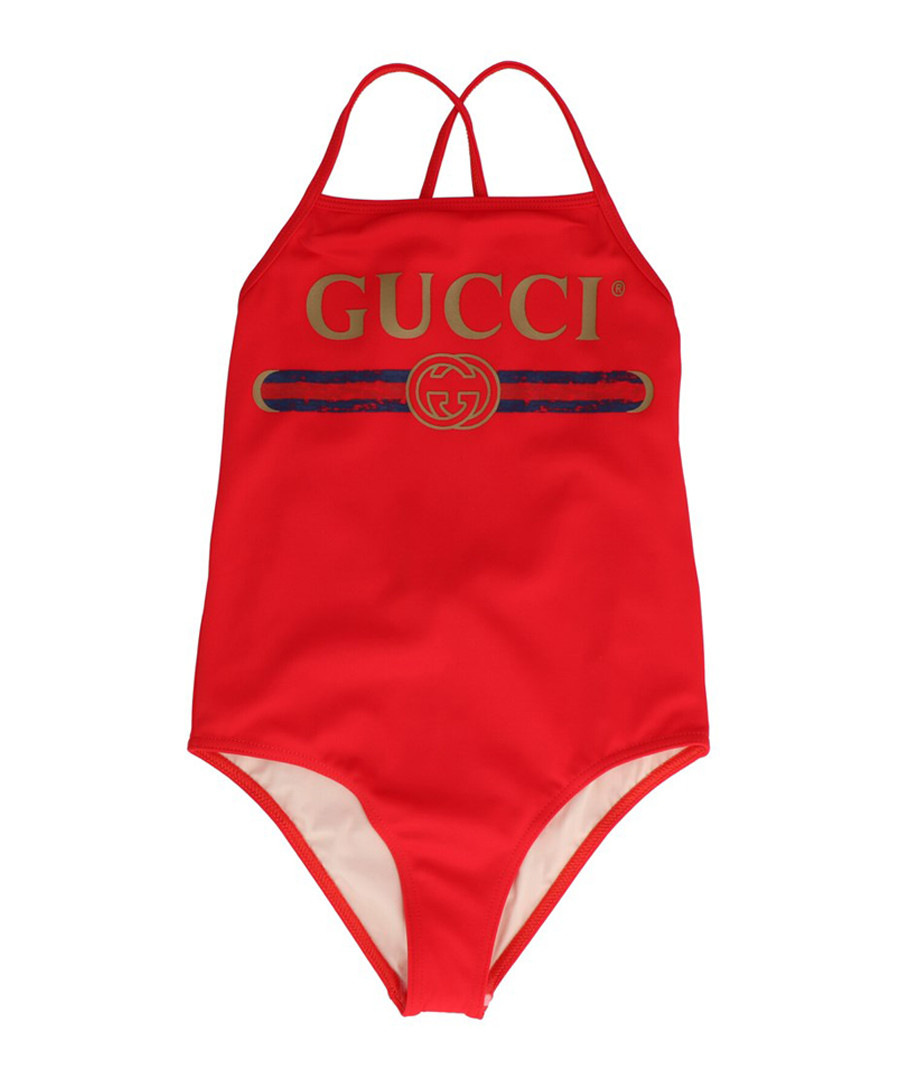 Red logo swimsuit Sale - gucci