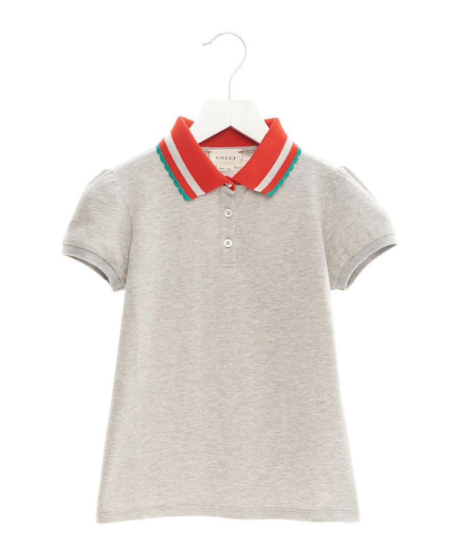 Grey pure cotton polo top Sale - gucci