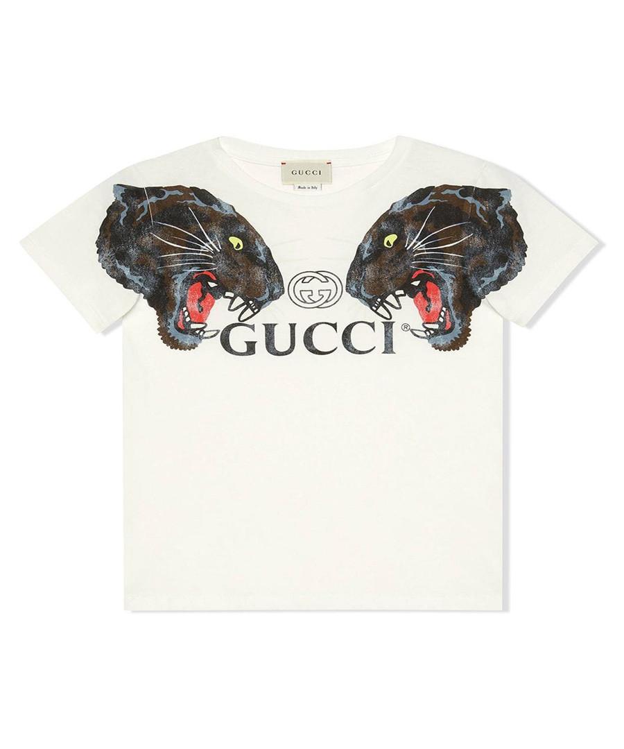 White pure cotton logo T-shirt Sale - gucci