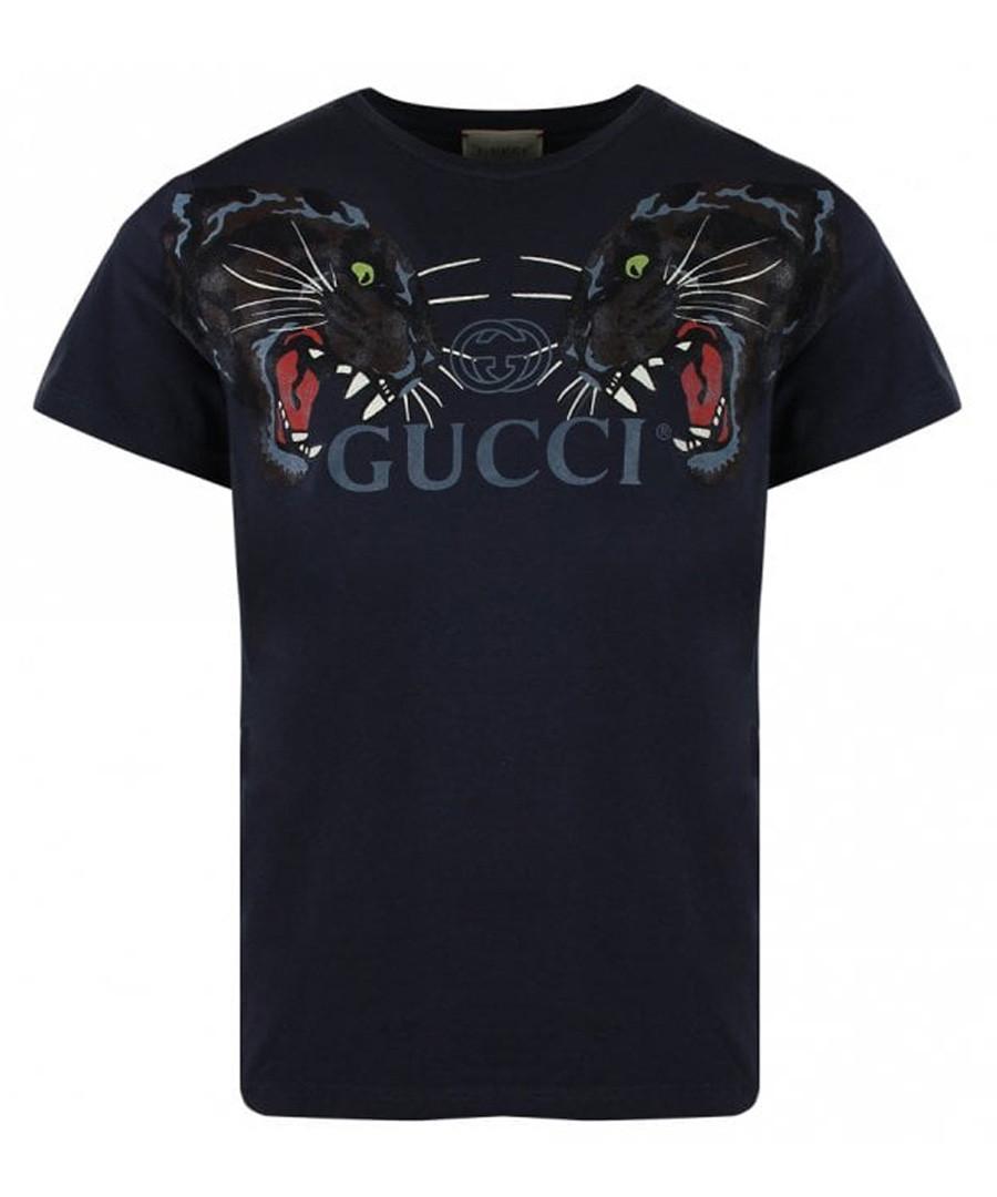 Black pure cotton logo T-shirt Sale - gucci
