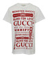 White pure cotton printed T-shirt Sale - gucci Sale