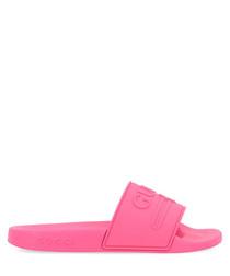 Pink slip-ons