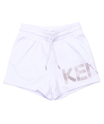 White pure cotton shorts