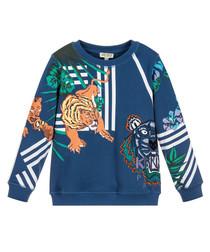Multi-colour tiger print sweatshirt