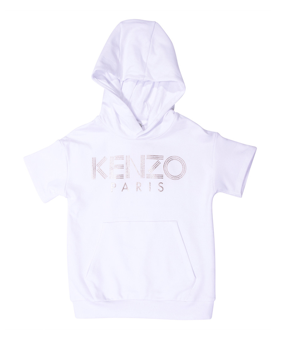 White pure cotton logo T-shirt Sale - kenzo kids