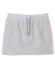 Grey pure cotton mini skirt